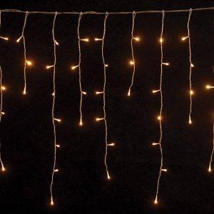 144 λαμπάκια LED ασύμμετρη κουρτίνα βροχή σταθερή με επέκταση 3x060 m διάφανο καλώδιο IP44 διαφορα χρωματα