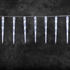 15 Σταλακτίτες κρύσταλλοι κουρτίνα με 8 προγράμματα ΧΙΟΝΟΠΤΩΣΗΣ 60 LED 3x05h m διάφανο καλώδιο IP20 Ψυχρο Λευκο