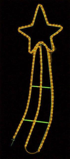 Φωτοσωλήνας κομήτης 55x160h cm με 6 m φωτοσωλήνα GS Εσωτερικού και Εξωτερικού Χώρου 8 προγράμματα Κίτρινος